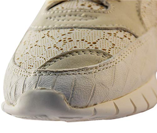 Scarpe SOYA Donna Sneakers Bianco 140313 35 Latte CONTEXUS FISH zrr5qxBwU