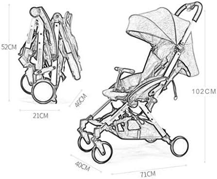Cochecito de bebé puede sentarse horizontalmente portátil ...