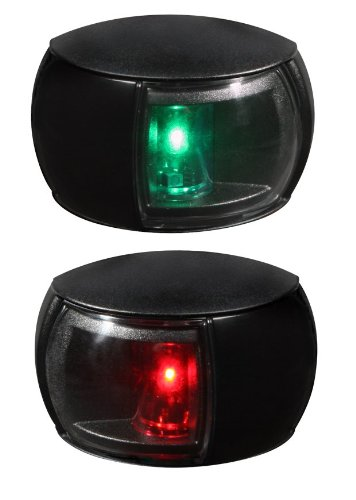 - HELLA 980520901 '0520 Series' NaviLED Multivolt 8-28V DC 2 NM Compact Port and Starboard Navigation Light Kit with Clear Outer Lens and Black Shroud