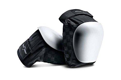 PROTEC Original Pro-tec Drop-in Knee Pad, Black/White, Small