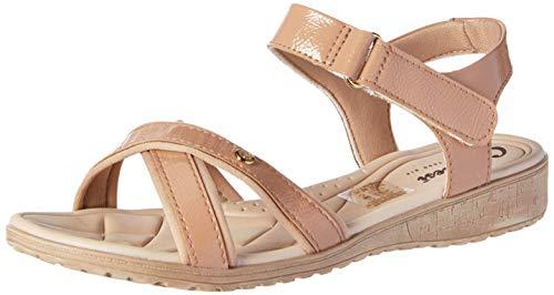 Sandália Campesi Feminino Velcro Castor Claro 40