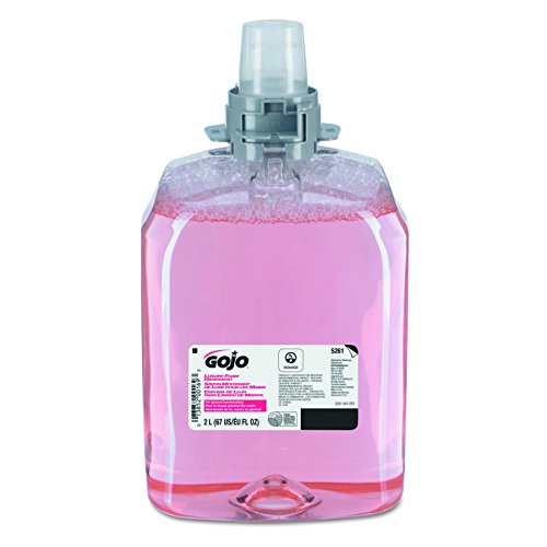 GOJO 5261-02  2000 mL Luxury Foam Handwash,  FMX-20 Refill (Case of 2),Translucent Pink,Compatible with Dispenser #5250-06, (Luxury Foam Antibacterial Refill)