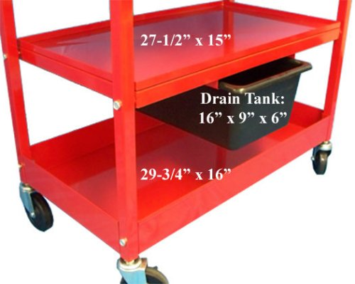 Mobile 20 Gallon Parts Washer Cart Pump Drying Shelf 3 by Generic (Image #3)