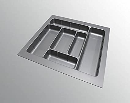Now & Ever Modular Kitchen Inner Drawer PVC Cutlery Tray, 21 Wide X 19  Depth -Inches, Grey