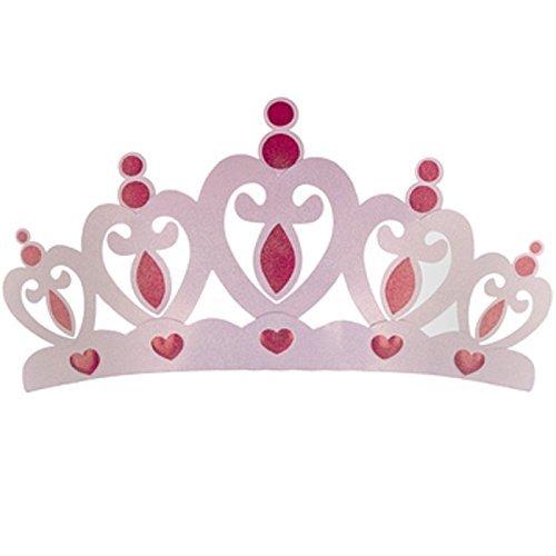 Pink Metal Crown Wall Decor
