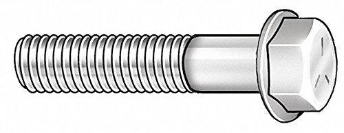 3'' Steel Hex Flange Bolt, Grade 8, Phosphate and Oil Finish, 1/2''-13 Dia/Thread Size, 25 PK
