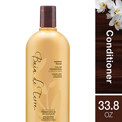 (Bain de Terre Passion Flower Color Preserving Conditioner, with Argan and Monoi Oil, Paraben-Free,)