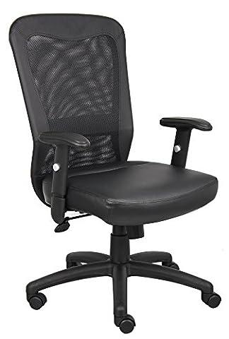 Boss Office Products B580 Boss Web Chair in Black - Boss Office Desk