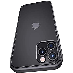 Amozo Frosted Back Cover for iPhone 12 / iPhone 12 Pro – (Polycarbonate/Black)