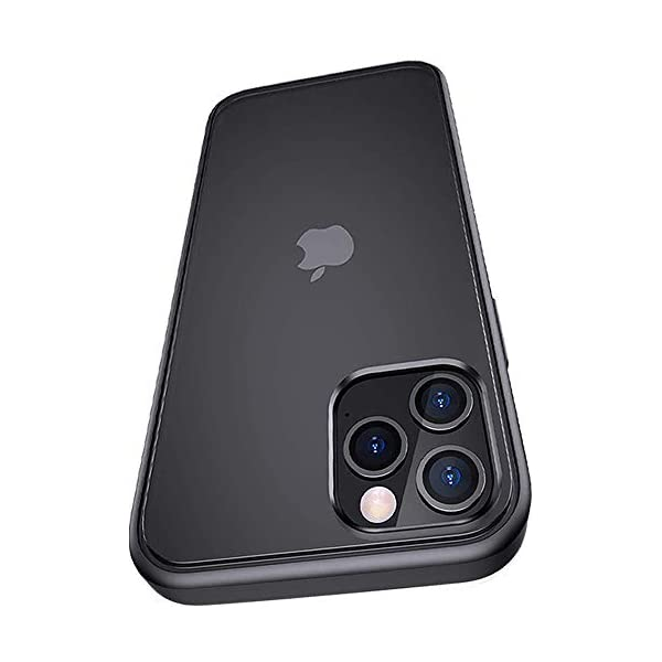 Amozo Frosted Back Cover for iPhone 12 / iPhone 12 Pro - (Polycarbonate/Black) 2021 July QUALITY MATERIAL - Hybrid technology that is made of a TPU Material with a durable back panel CAMERA PROTECTION - Raised bezels lift camera off flat surfaces PRECISE CUTOUTS - Pronounced buttons are easy to feel and press, while large cutouts fit most cables