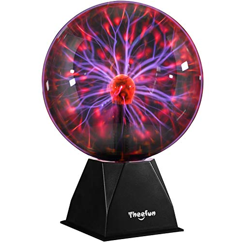 Plasma Ball, Theefun 8inch Touch & Sound Sensitive Plasma Globe, Nebula Sphere Plasma Lamp Novelty Toy for Kids, Best Christmas Gifts/Decoration
