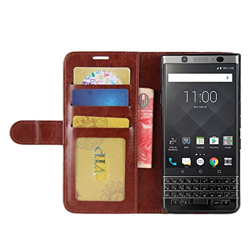 (Fettion Wiko View 3 Case, Retro PU Leather Wallet Case Book Flip Phone Case Cover with Kickstand and Credit Card Holder, Magnetic Closure for Wiko View 3 2019 - Brown)