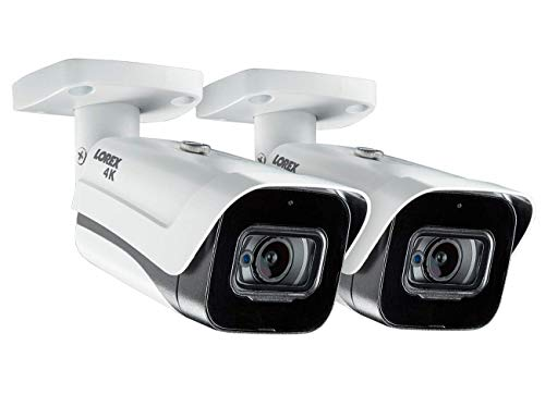 2-Pack of Lorex LBV8721AB 4K MPX Bullet Cameras with Built in Mic
