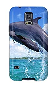 Top Quality XuNiWZP3107DKjTr Nice Jumping Dolphin Tpu Case For Galaxy S5