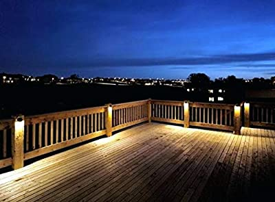 Sogrand Solar Deck Lights Outdoor Waterproof Wall Light Bright Fence Lighting Black Garage Door Lights Dual LED Porch Lantern Dock Decorations Step Stair Lamp for Outside Decor Post Yard Path 2Pack
