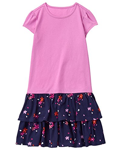 Gymboree Little Girls' Double Ruffle Dress, Star, (Star Tiered Dress)