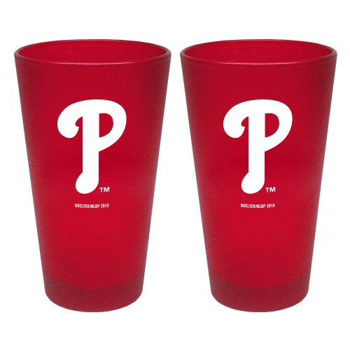 - MLB Philadelphia Phillies 2 Pack Colored Frosted Pints