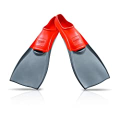 Speedo's unisex fins give you an efficient powerfull kick. The orthopedic foot pockets make the fins very comfortable for long workouts, a day of snorkeling, or just playing in the pool. Fits shoe sizes 5 through 13.