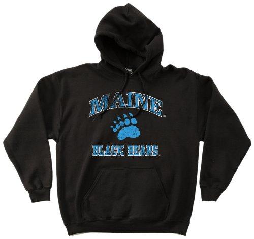 - NCAA Maine Black Bears 50/50 Blended 8-Ounce Vintage Mascot Hooded Sweatshirt, X-Large, Black