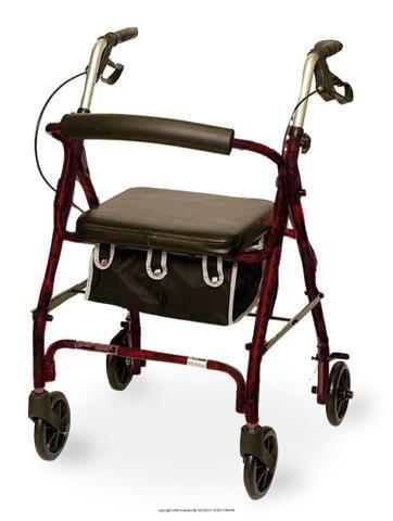 (EA) Junior Sized Rollator w/ Loop Brakes & Basket