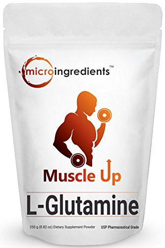 Pure L-Glutamine Powder, 250 grams, Powerfully Promotes Muscle Mass & Recovery, Enhances Protein Synthesis and Helps You Pack on More Muscles. Pharmaceutical Grade. Non-GMO and Vegan Friendly.