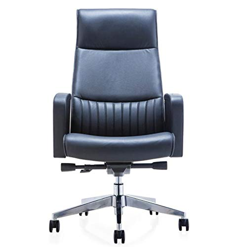 (Desk Chair Computer Chair, Office Chair, Study Leather Rotary Lifting Modern Comfort Reclining Ergonomic Simplicity for Dining Living Room Office Reception)