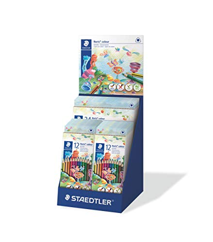 STAEDTLER ST Noris Colour, Increased Break Resistance, Triangular Shape, Ergonomic Soft Surface, WOPEX Material, Set with 5 x 24 and 20 x 12 Cases, 187 CA-1, Multi-Coloured