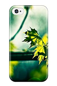 Iphone 4/4s Case Bumper Tpu Skin Cover For Green Leaves In The Sun Summer Maple Tree Nature Other Accessories wangjiang maoyi