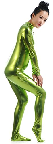 Ensnovo-Womens-Shiny-Metallic-Zentai-Suit-Wetlook-Spandex-Turtleneck-Unitard