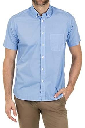 Blazer Men's Easton Short Sleeve Printed Shirt, Blue, XXL