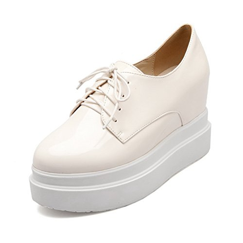 Balamasa Ragazze Alte Allinterno Benda In Tinta Unita Con Tacco Fondo Alto In Pelle Imitato Pumps-shoes Bianco