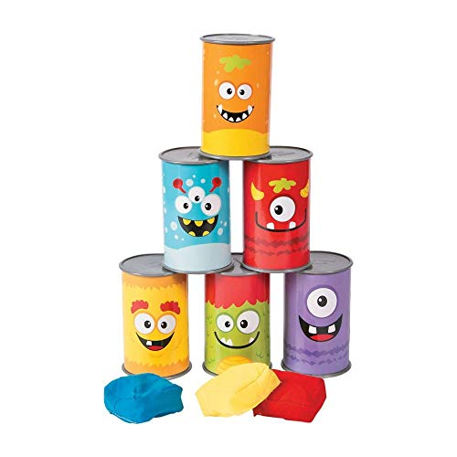Fun Express Plastic Monster Bean Bag Toss Carnival Game - 9 pieces