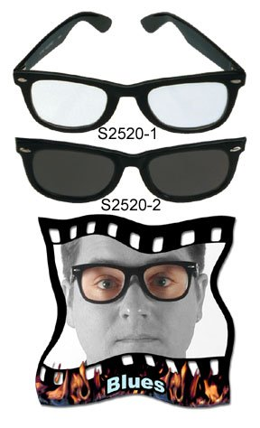 elope Blues Costume Glasses (Austin Powers Girl Costume)