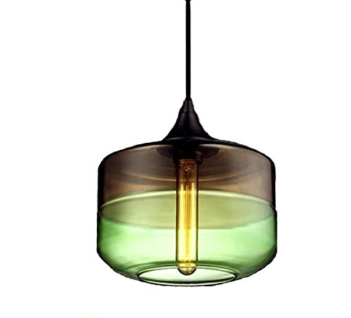 Unique Optic Contemporary Hand Blown Glass Pendant Light, Ceiling Hanging Lighting Fixtures,E27
