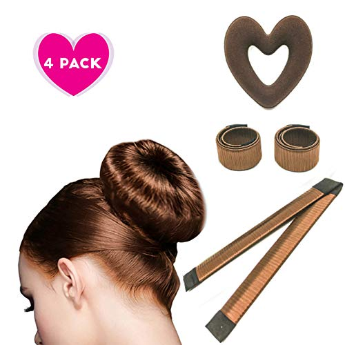 The Bun Maker Costume (Brown Magic Hair Bun Maker 4pc set, Macusi Heart)
