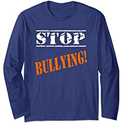 Unisex Stop Bullying School Anti-Bullying Anti-Hate Shirt Large Navy