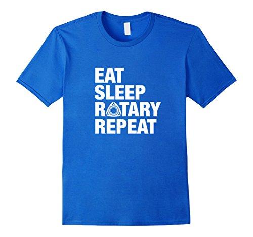 Mens EAT SLEEP ROTARY REPEAT T-SHIRT for men women kids Large Royal (Rotary Drag Racing)