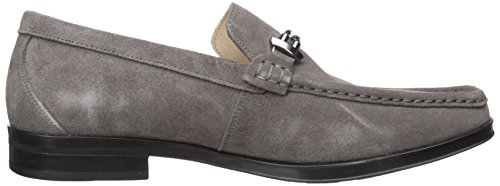 Stacy Adams Mens Nesbit Moc-toe Slip-on Mocassino In Pelle Scamosciata Grigia