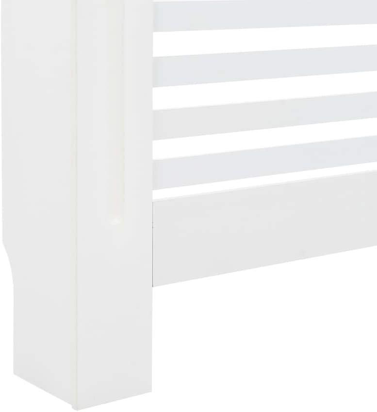 Tidyard Heizk/örperverkleidung mit 7 horizontalen Scheiben Heizungsverkleidung Heizk/örperabdeckung Heizung Abdeckung Heizk/örper Wei/ß 112x19x81,5cm MDF