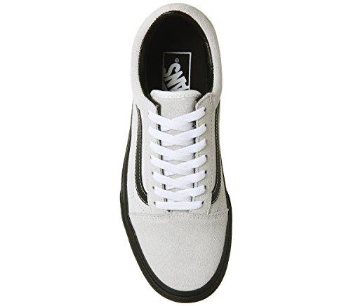 Vans Old Calzado Skool Black de Blanc Blanc Platform qZgvwOq