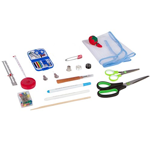 Anyone Can Sew Professional Sewing Kit for Beginners with Travel Mending Kit and Full Sized Shears for Sewing ()
