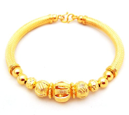 22k 23k 24k india style thai baht yellow gold gp bracelet