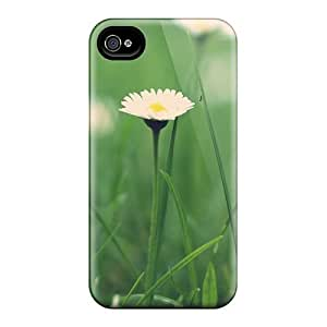 Hot Fashion JkpseKJ1924WYTlG Design Case Cover For Iphone 4/4s Protective Case (small Daisies Macro)