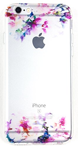 IPhone 5 / 5s Case, YogaCase InTrends Silicone Back Protective Cover (Watercolor Flowers)