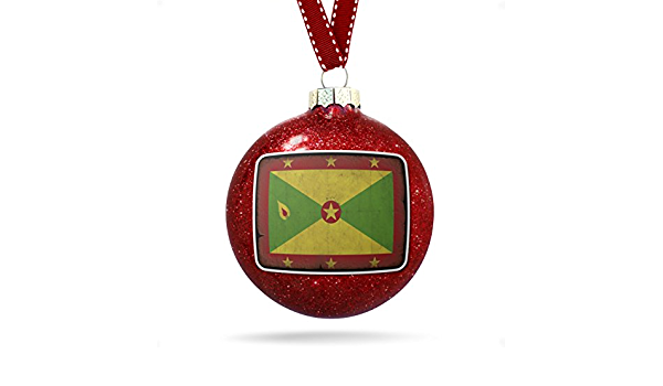 Neonblond Christmas Decoration Grenada Flag With A Vintage Look Ornament Kitchen Dining