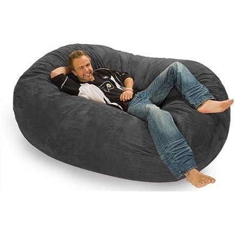 Relax Sack 6 Ft Microsuede Foam Bean Bag Lounger