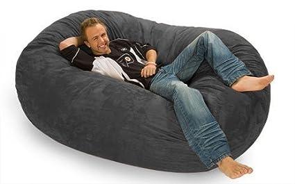 amazon com relax sack 6 ft microsuede foam bean bag lounger