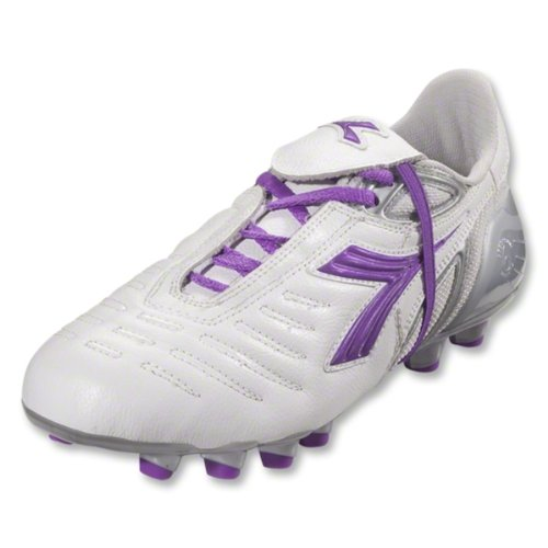 Diadora Dames Maracana Md Pu Dames Voetbal Cleat Wit / Paars