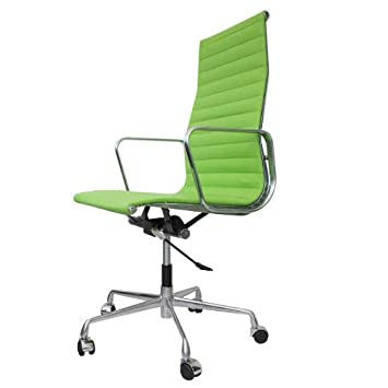 Bürostuhl Eames charles eames ea119 bürostuhl leder dünn gepolstert grün amazon