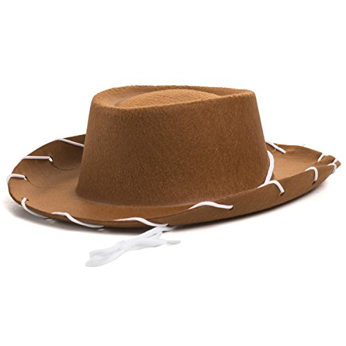 [Childrens Brown Felt Cowboy Hat by Century Novelty by Century Novelty] (Woody Accessories)